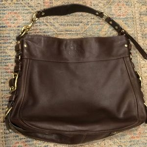 Coach handbag with gold details